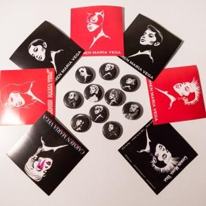 Badges et autocolants de Carmen Maria Vega